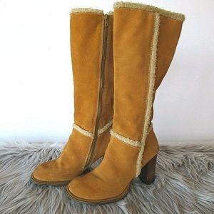 "MIA Brown Leather ""Hugo"" Mid Calf Boots 8"